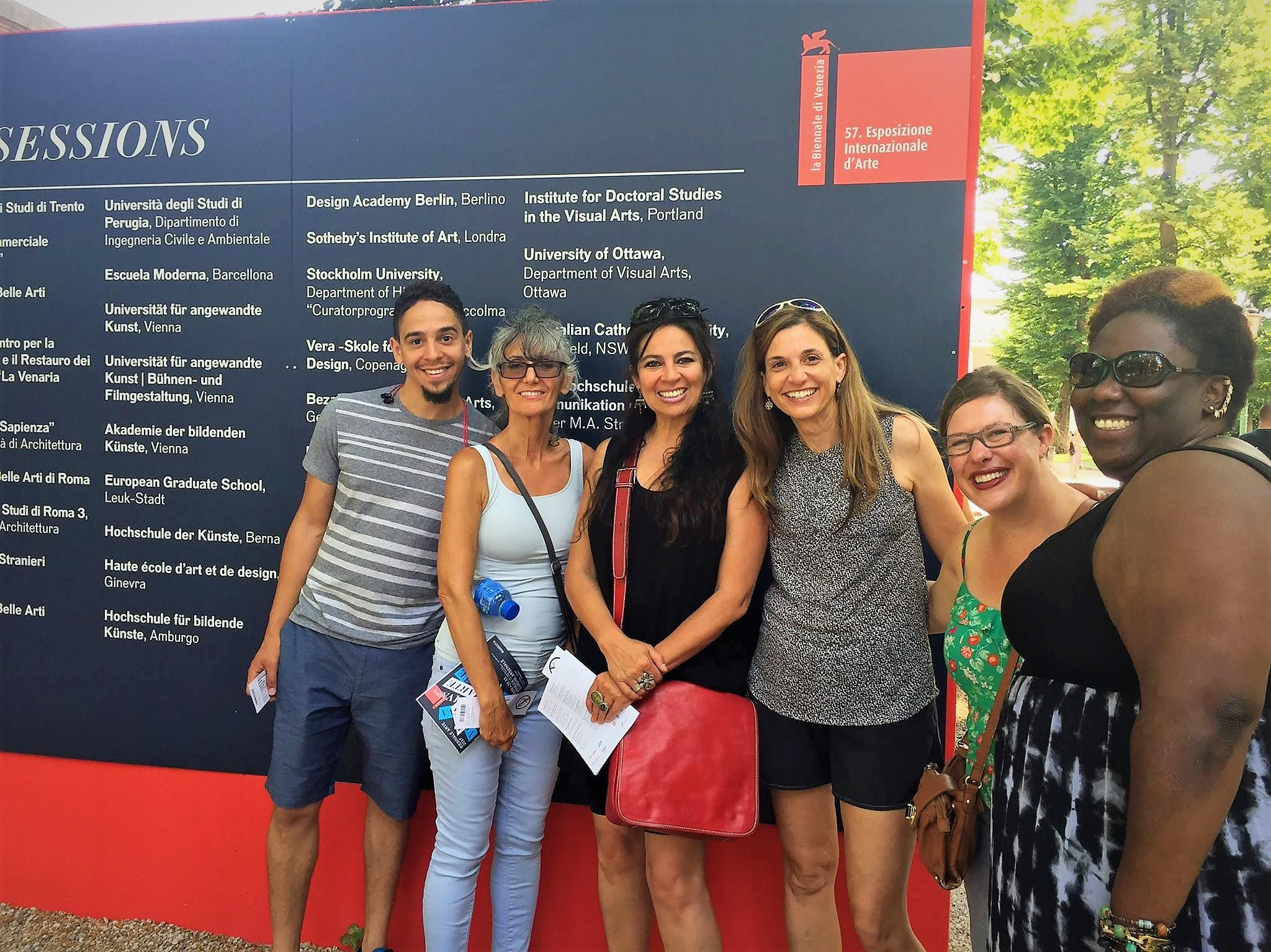 Biennale sessions banner at the Venice Biennale Giardini , Photo Credit: Simonetta Moro