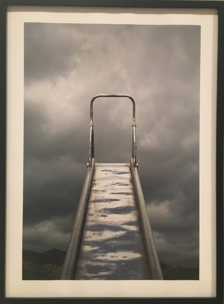 Slide and Clouds  by Brenda Biondo, pigment print on paper, 2006. Photo by: Poppy Gauss