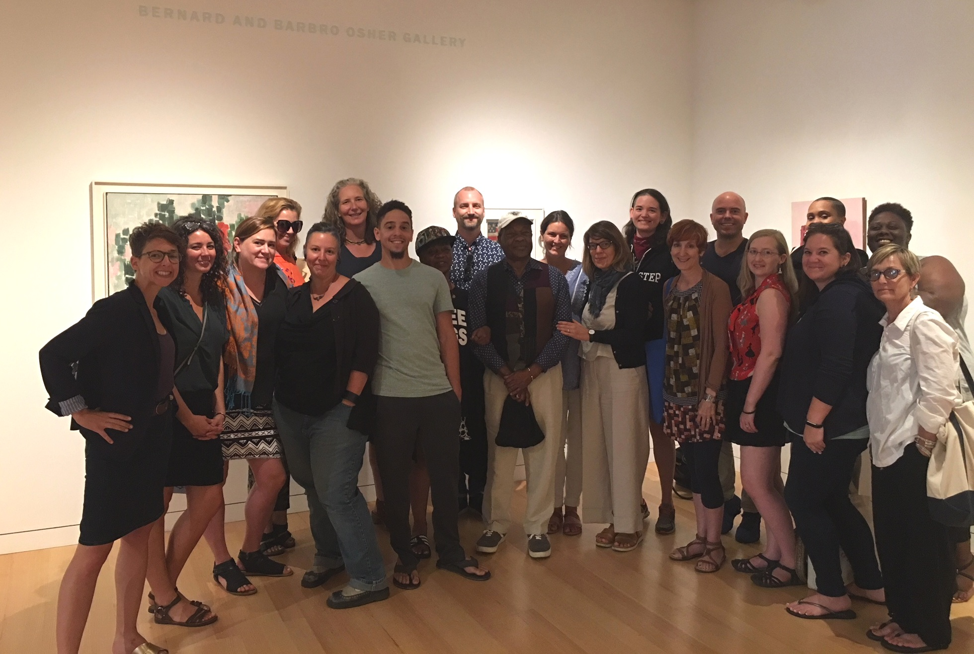 IDSVA students with Visiting Faculty Dr. David Driskell and Dr. Dejan Lukic, and IDSVA Director Dr. Simonetta Moro (center of photo). Colby College, Summer 2018. Photo courtesy of Alicia Lange.