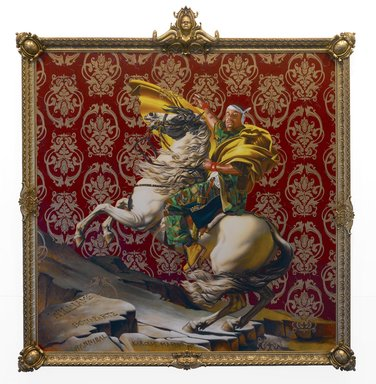 Napoleon Leading the Army Over the Alps,  2005. Kehinde Wiley.  Image Source