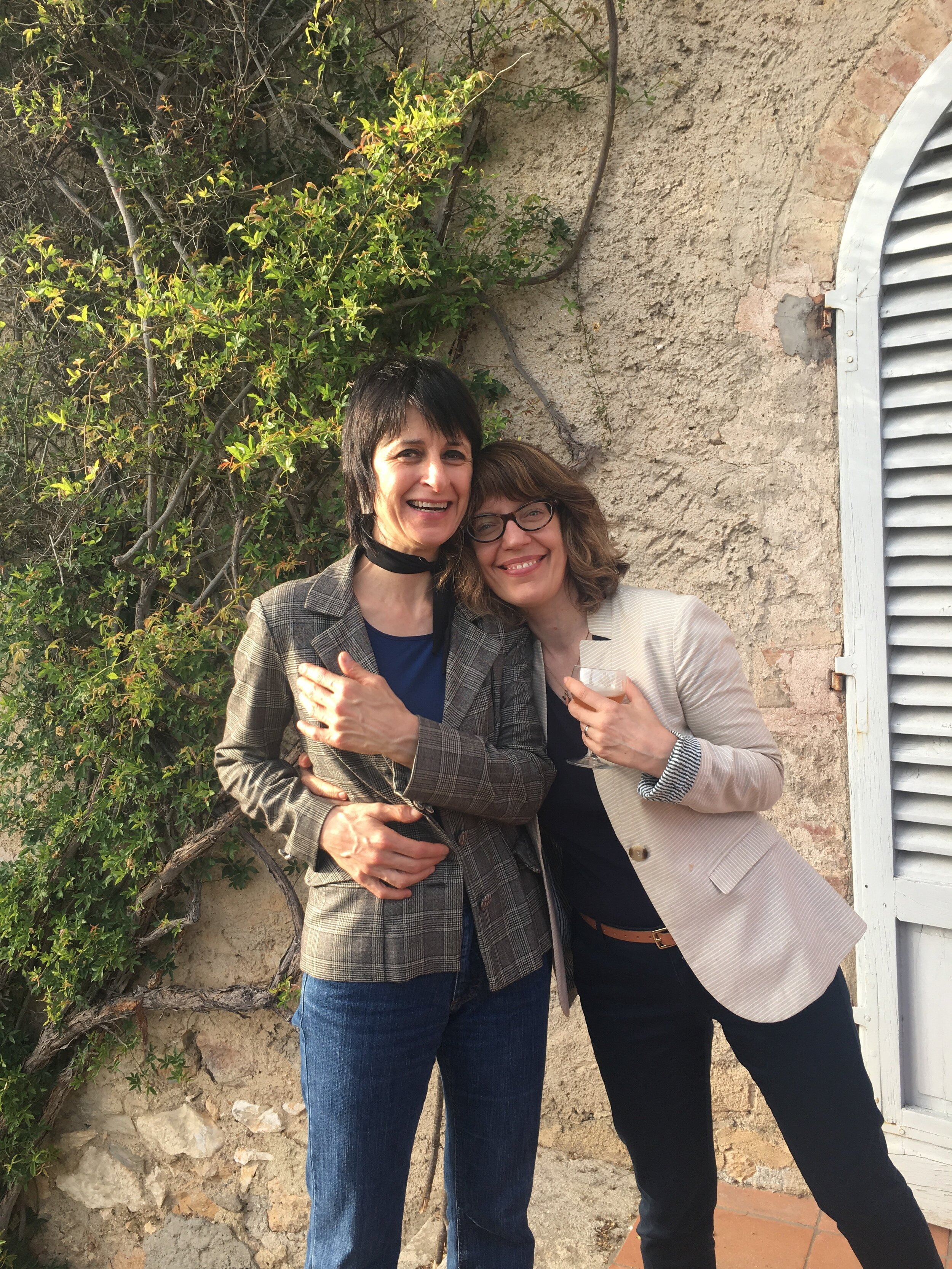Visiting Lecturer, Franca Marini with IDSVA Director, Simonetta Moro. June 2019