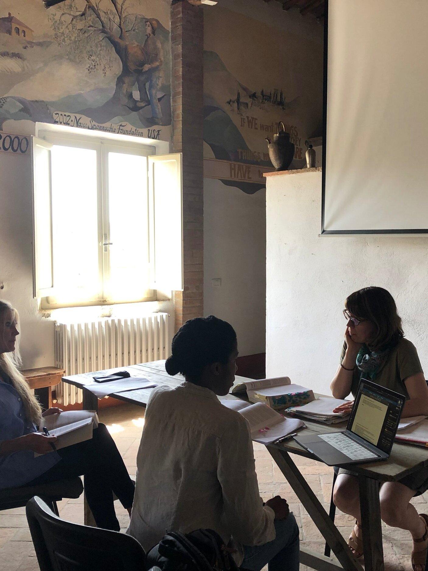 Workshop with IDSVA Director, Simonetta Moro. June 2019