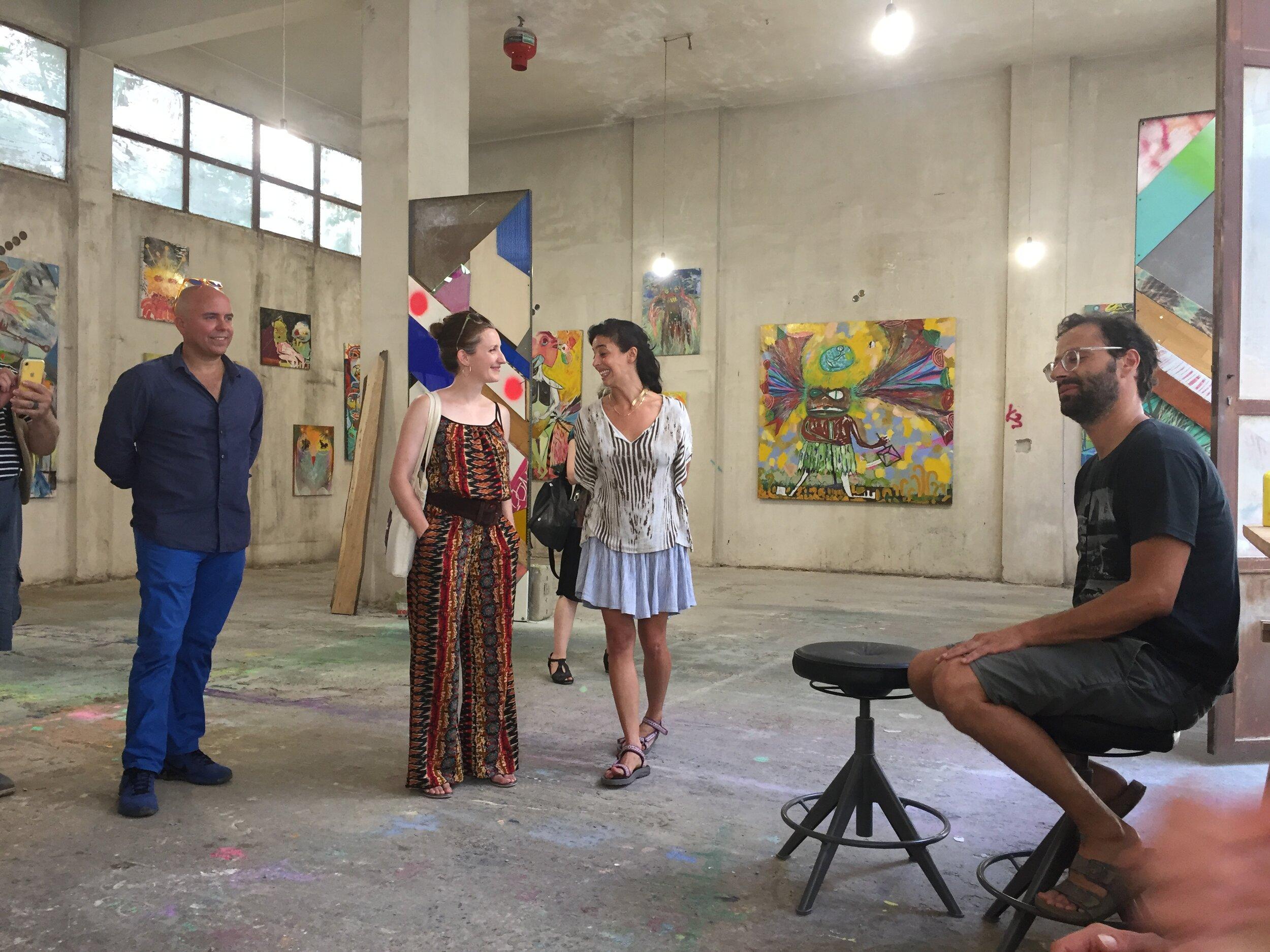 Athens studio visit with Vaggelis Choursoglu. June 2019