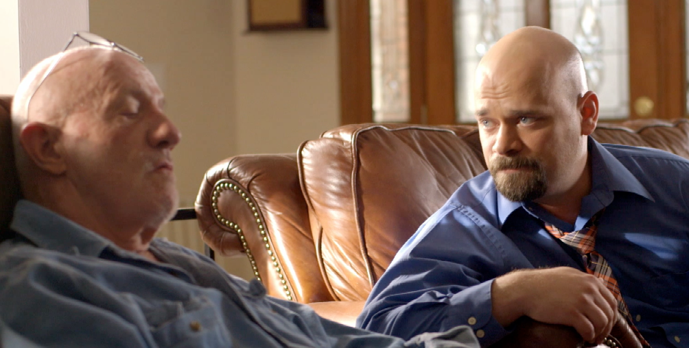 Tim throwing down with Jonathan Banks in the film Roar.