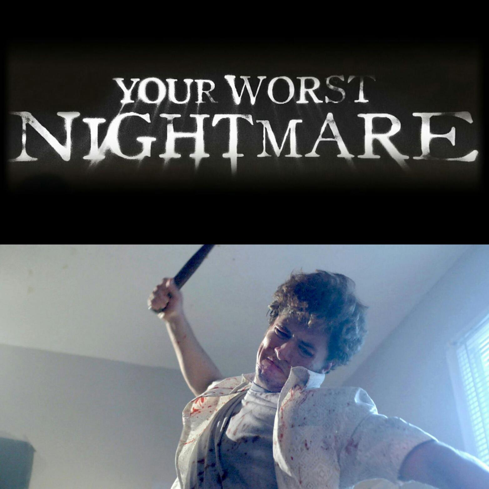Sam doing work on Your Worst Nightmare!His acting skills hit the nail on the head!