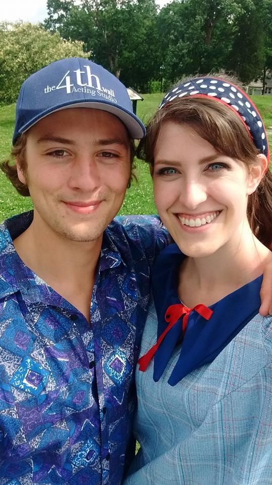 Sam & Rachel between takes on Summer of '67!
