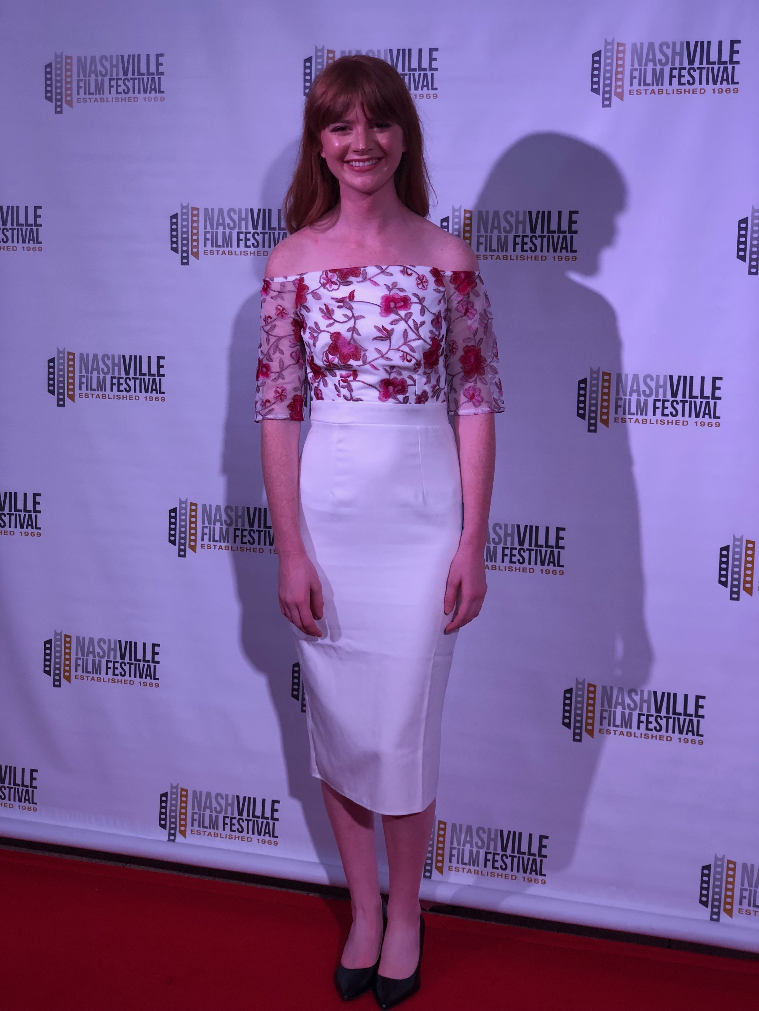 Allison on the red carpet!