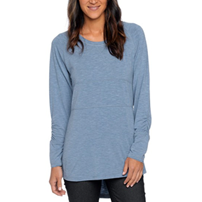 PRANA ADA TOP  (Steel blue)   prAna: A brand should give much more than it takes from the world, and their   seva   is to promise to continue to search for better ways of making and doing things.