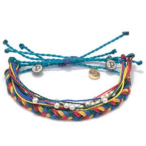 PURA VIDA AUTISM AWARENESS BRACELET   Every purchase helps provide full-time jobs for local artisans in Costa Rica. In addition,  $6 of the proceeds for this bracelet will go to Autism Society America.