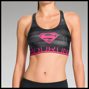 UNDER ARMOUR ALTER EGO SUPERGIRL BRA  You can be anything, do anything. Kick fear in the face, and channel that super girl inside.
