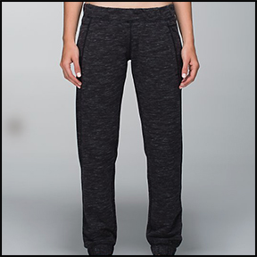 LULULEMON SATTVA PANT II  The perfect baggy sweatpant for the feminine body. They are ideal to wear to and from the gym, or just lounging on a winter snow day with hot cocoa and  Girls  re-runs.