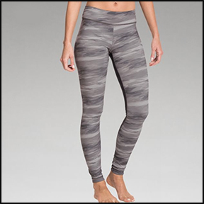 UNDER ARMOUR PERFECT PRINTED ZIPPED LEGGINGS  A matte, clean look that's anti microbial — and anti stink.