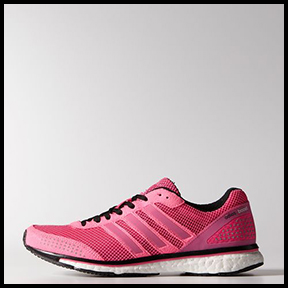 ADIDAS ADIZERO ADIOS BOOST 2.0 SHOES  Whether it's the first time you've logged a 5K, or you are tackling a 26.2, these are your shoes for lightweight serious running.