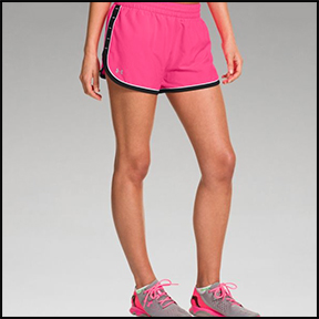 UNDER ARMOUR GREAT ESCAPE SHORTS II  Shorts designed by women runners: short cut, and light breathable fabric — muffin-top free.