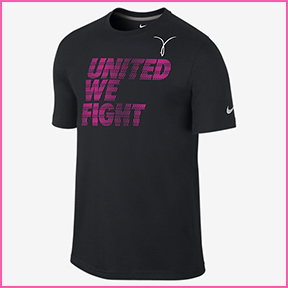 NIKE UNITED WE FIGHT  This is a Men's Size, so it is a little more generous fit, perfect for after you get out of the gym. The T-Shirt supports the WBCA Cancer Fund.