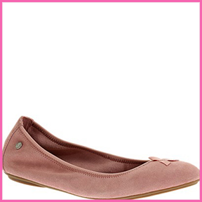 HUSH PUPPIES PINK SUEDE BALLET FLAT  Hush Puppies has partnered with the National Breast Cancer Foundation in their fight to promote breast cancer awareness.