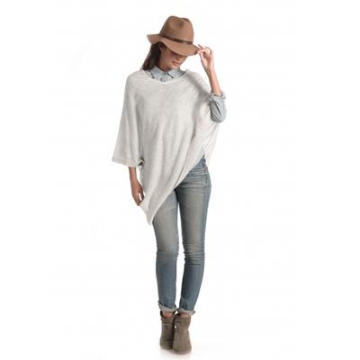 Synergy Organic Clothing Pale Grey Cashmere Poncho