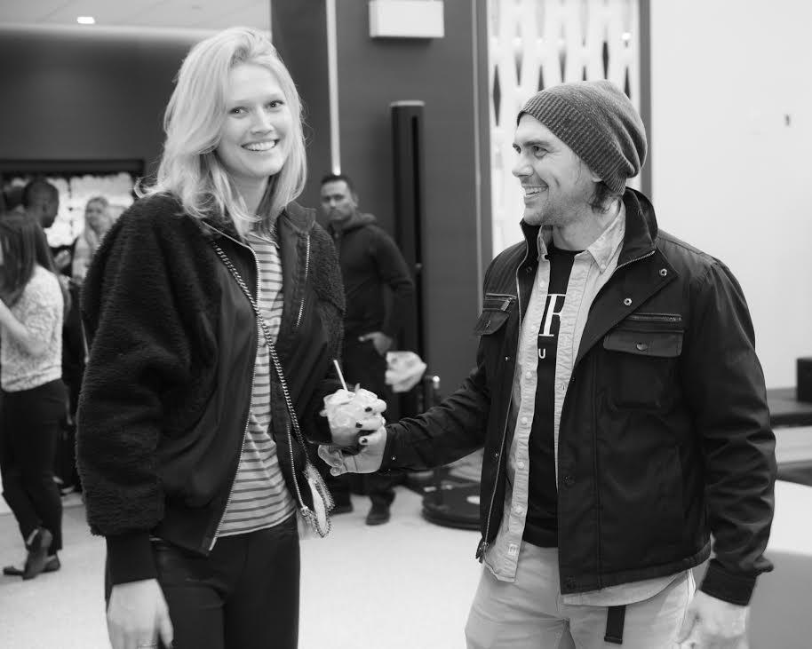 Derek with client Toni Garrn / Photo credit Anthony Collins
