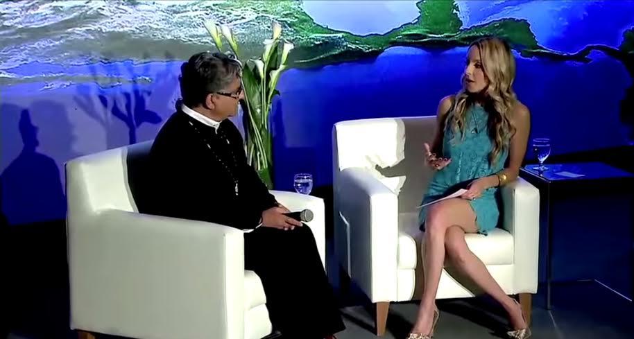 Deepak Chopra and Gabby Bernstein at last year's Global Meditation