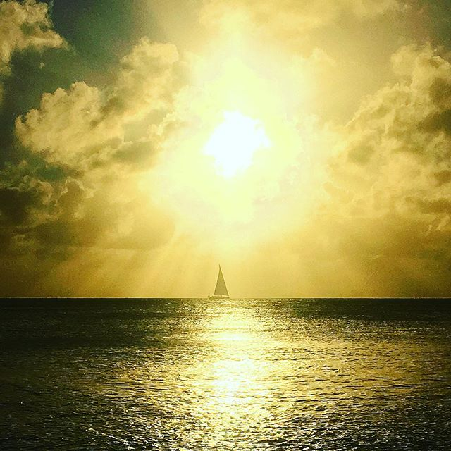 Christmas sunset under the warm skies of the Caribbean. Fitting photo as we take a dose of our own medicine about balance and sail off into #TheBigDark for the rest of the holidays. We encourage all of you to join us in our unplug until 2016. In any case, we can't wait to see you all again in the New Year. Make sure to head over to sweatlifenyc.com (link in profile) for some holiday reading! We wish you all a happy, healthy, and sweaty New Year! See you in 2016! #sweatlife #christmas #merrychristmas #happyholidays #sunset #ocean #sailing #grateful #Caribbean #balance #health #wellness #fitness #unplugging