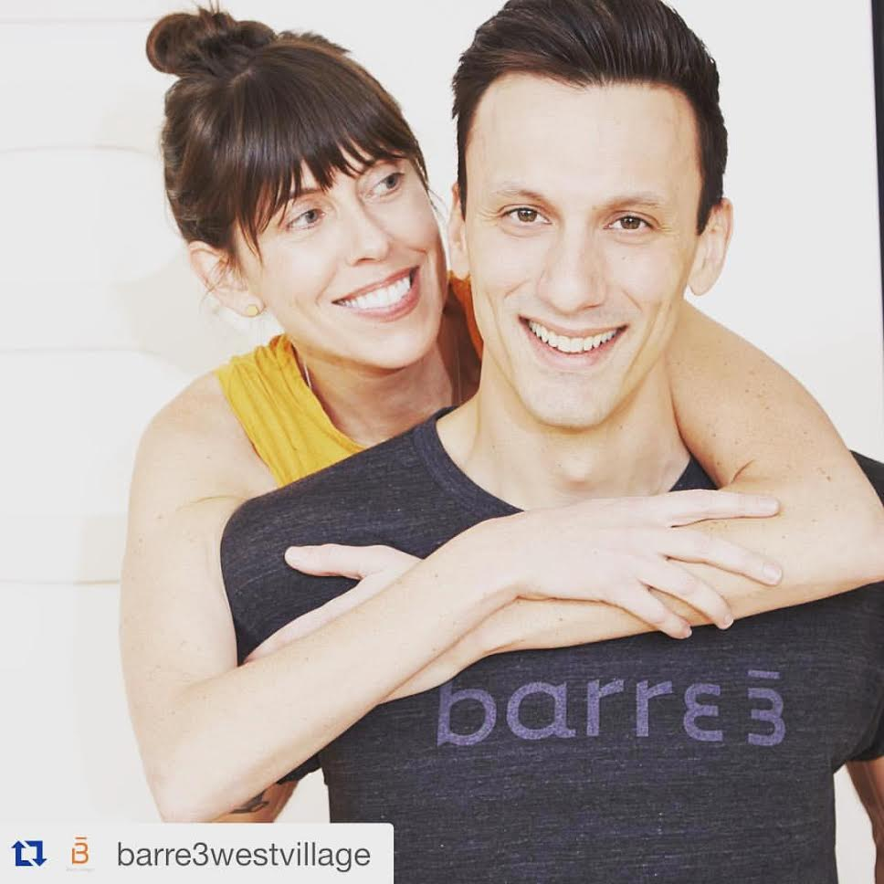 Amy LeClerc with barre3 West Village's Dino Malvone