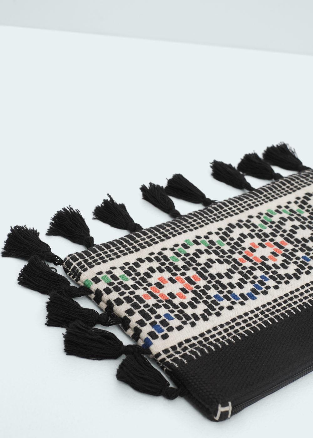Mango Tassel Ethnic Cosmetic Bag, $39