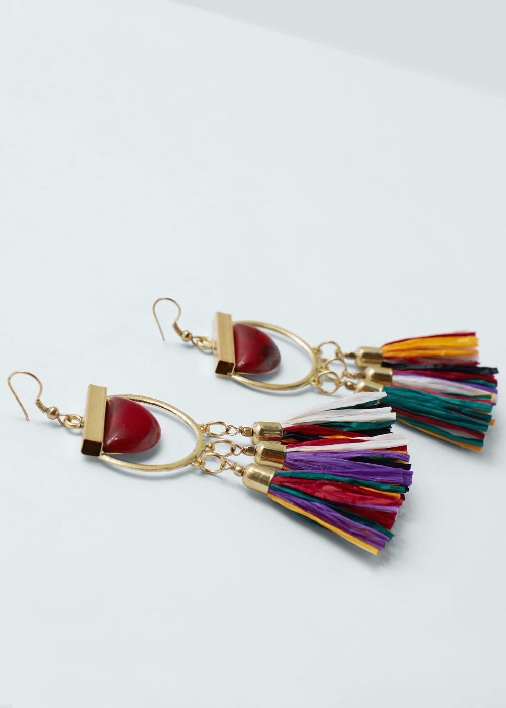 Mango Tassel Earrings, $19