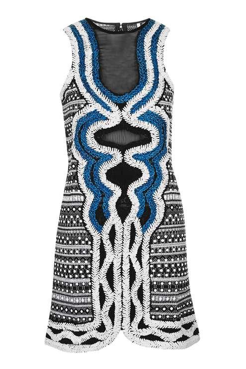 TopShop Embroidered Mini Shift Dress, $210