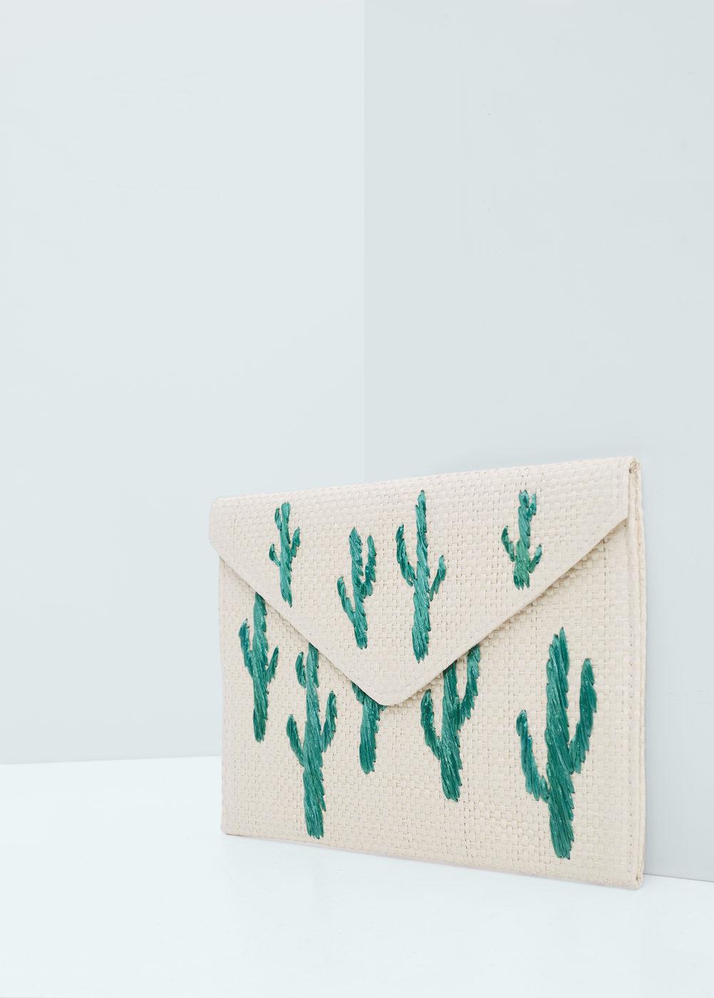 Mango Embroidered Envelope Bag, $19