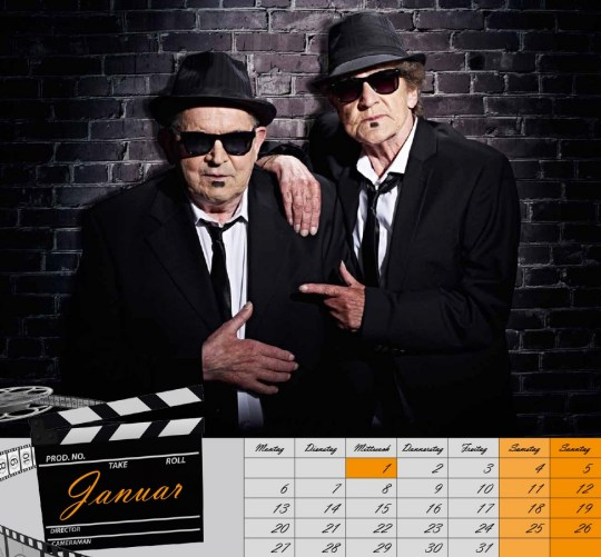 "January  Lothar Wischnewski, 76, & Margarete Schmidt, 77, as Jake & Elwood, ""The Blues Brothers."""
