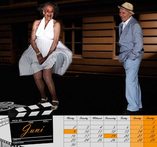 "June  Ingeborg Giolbass, 84, & Erich Endlein, 88, as The Girl & Richard, ""The Seven Year Itch""."