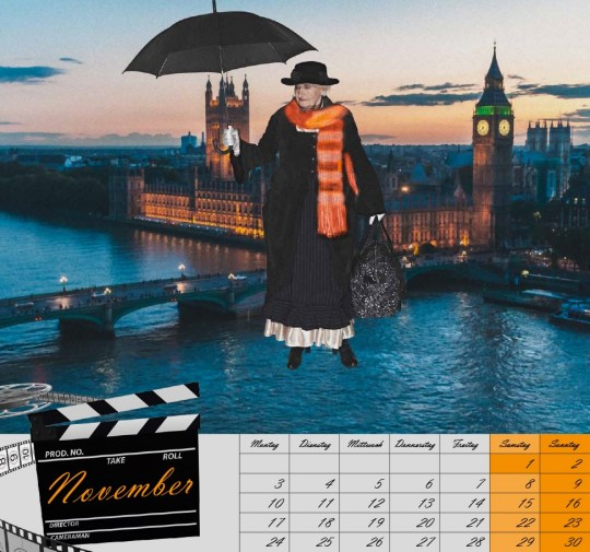 "November  Erna Schenk, 78, as ""Mary Poppins""."