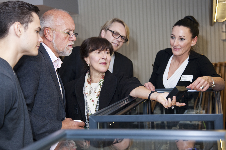 Belgium ambassador, Paul Gude Deberitz (NAJD), Lena Louise Torgersen (Norsk Diamant Depot)