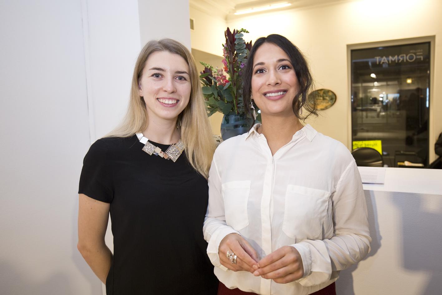 Designer Vera Bublyk and Mariella Yakubu (NAJD)