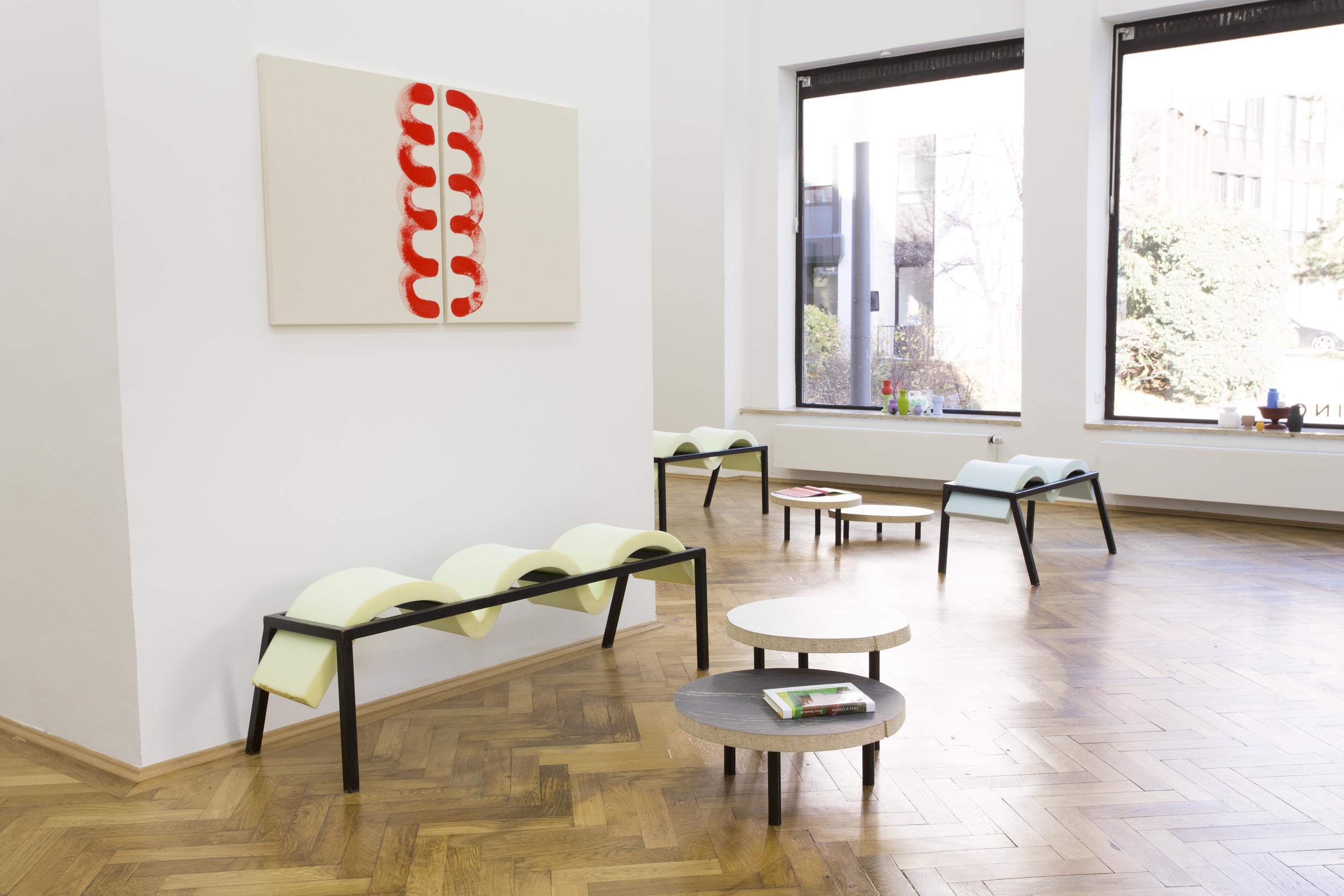 Elvire Bonduelle - waiting room #4 - installation view (Elvire Bonduelle)