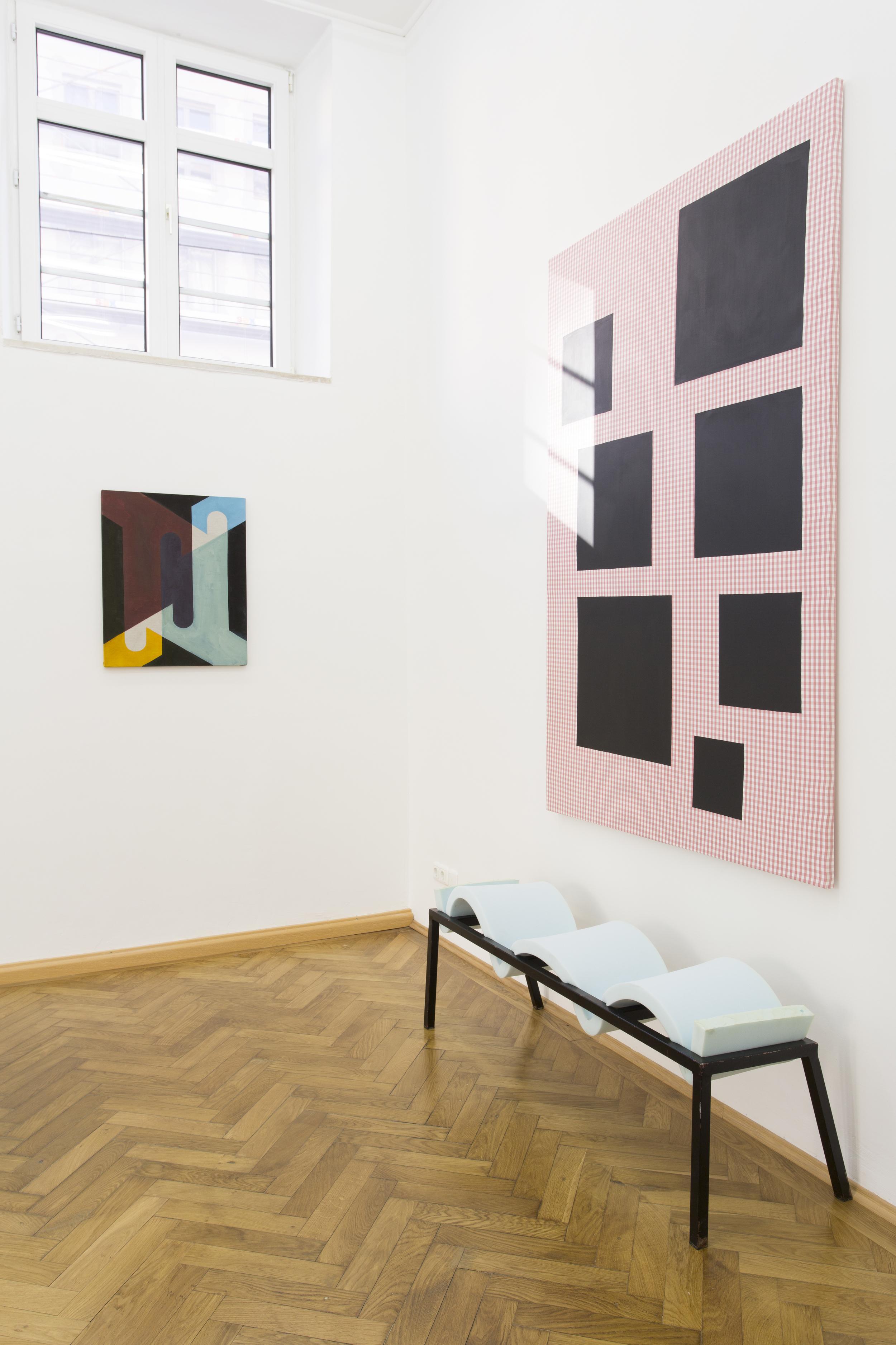 Elvire Bonduelle - waiting room #4 - installation view (Émile Vappereau, Nicholas Chardon, Elvire Bonduelle)