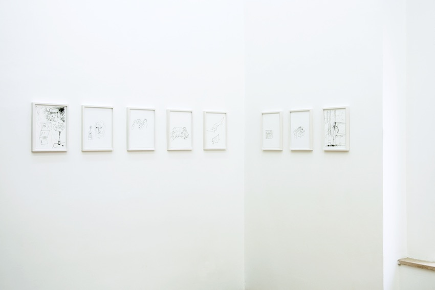Ulrich Hakel, Drawings from the series Suite Voilà, ink on paper, 29,7 x 21 cm (each)