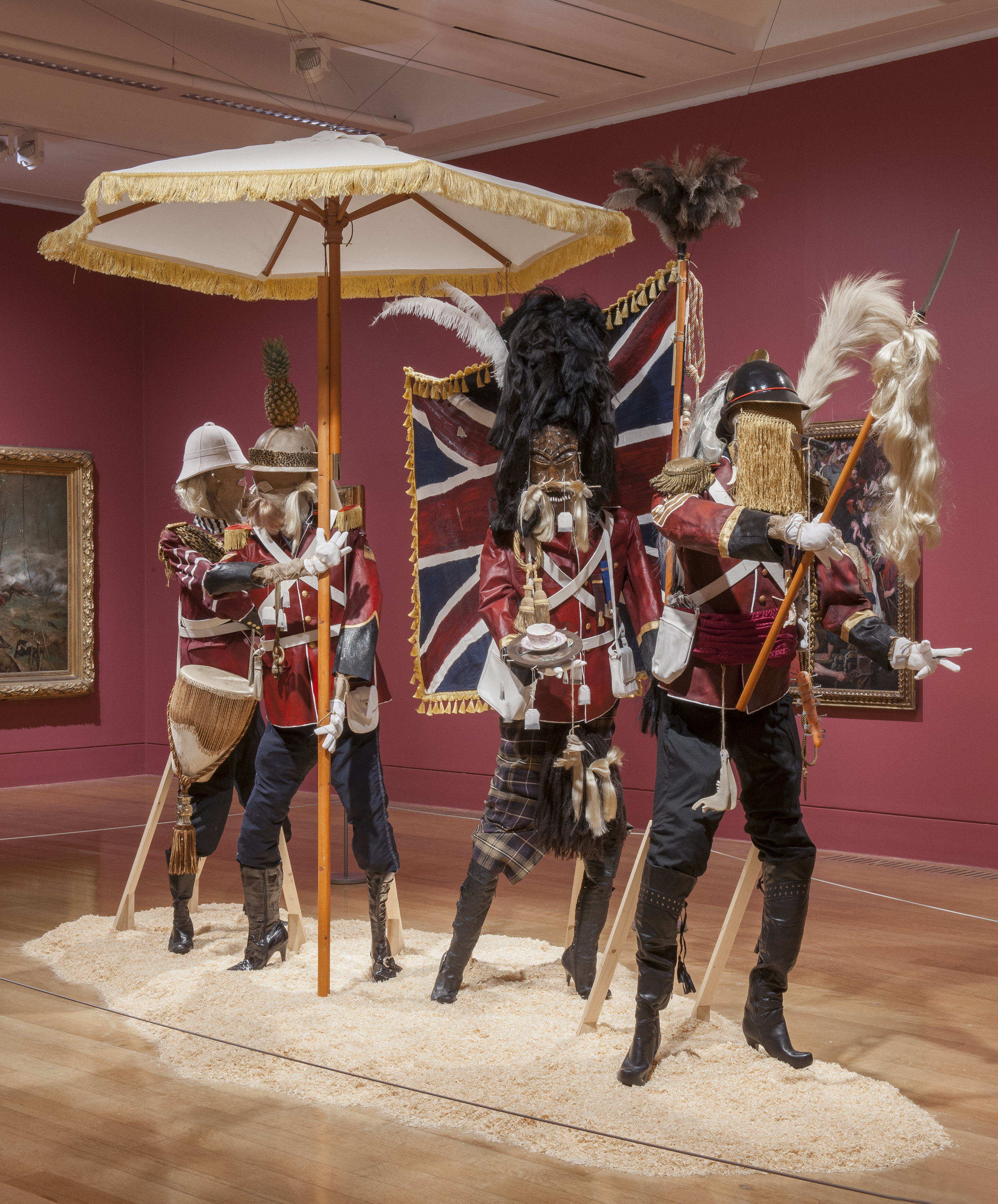 Andrew Gilbert, British Infantry Advance on Jerusalem, 4th of July, 1879, 2015, Installation view at TATE Britain, 338 x 440 x 212 cm