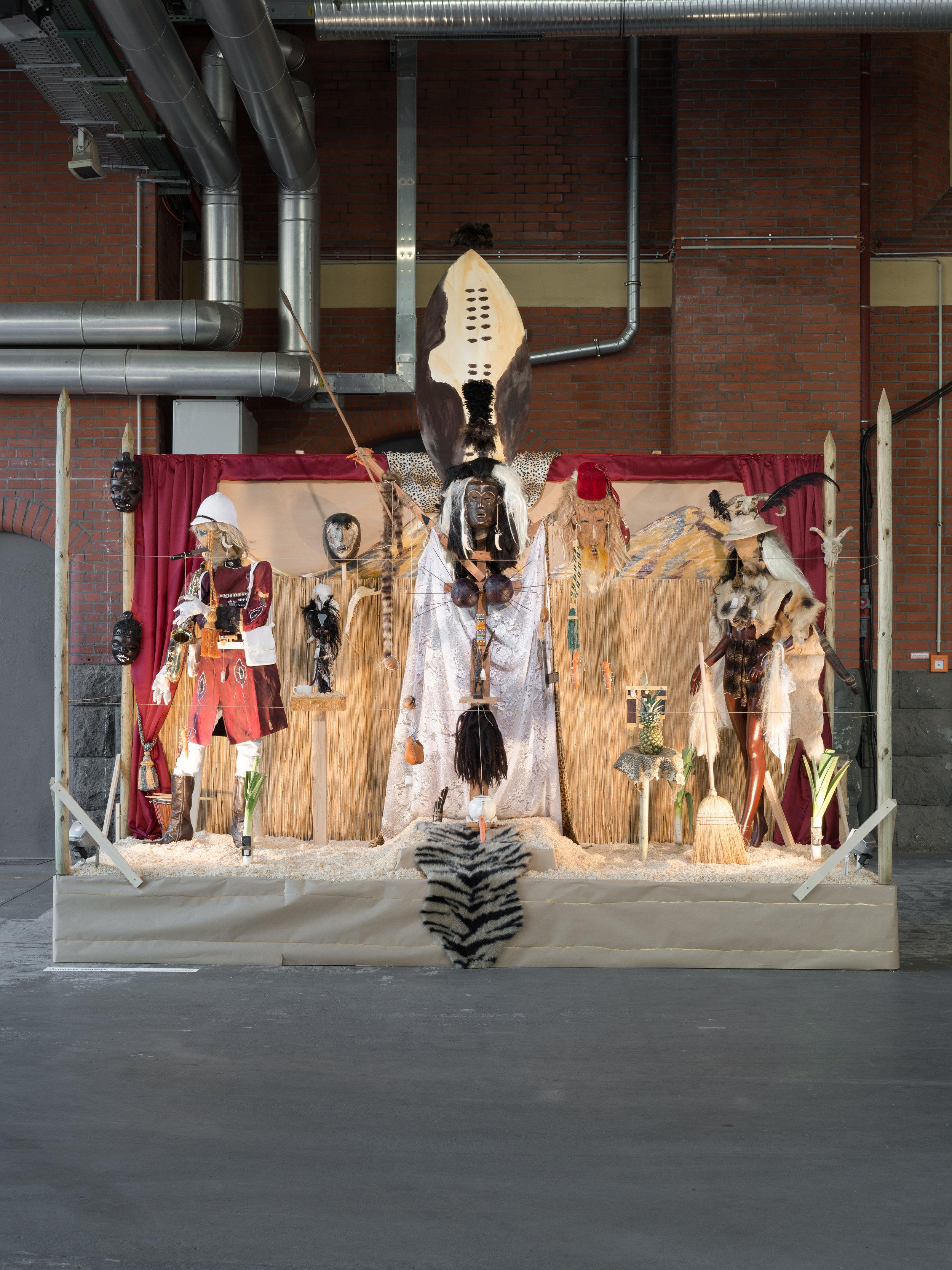 Andrew Gilbert, Shaka Zulu - the Musical, 2016, mixed media, 558 x 540 x 312 cm