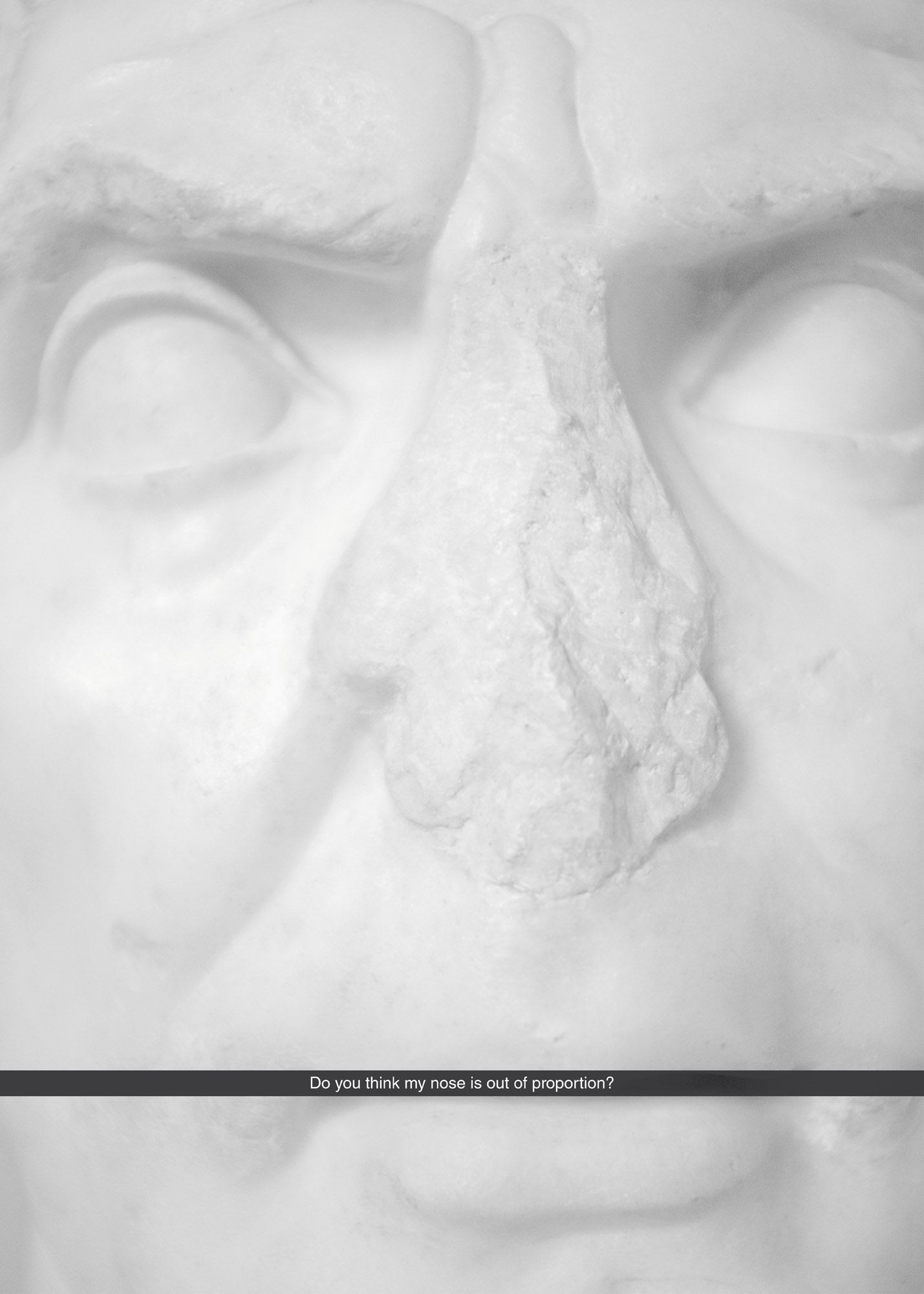 Sebastian Jung, Do you think my nose is out of proportion?, 2016, c-print, 70 x 50 cm