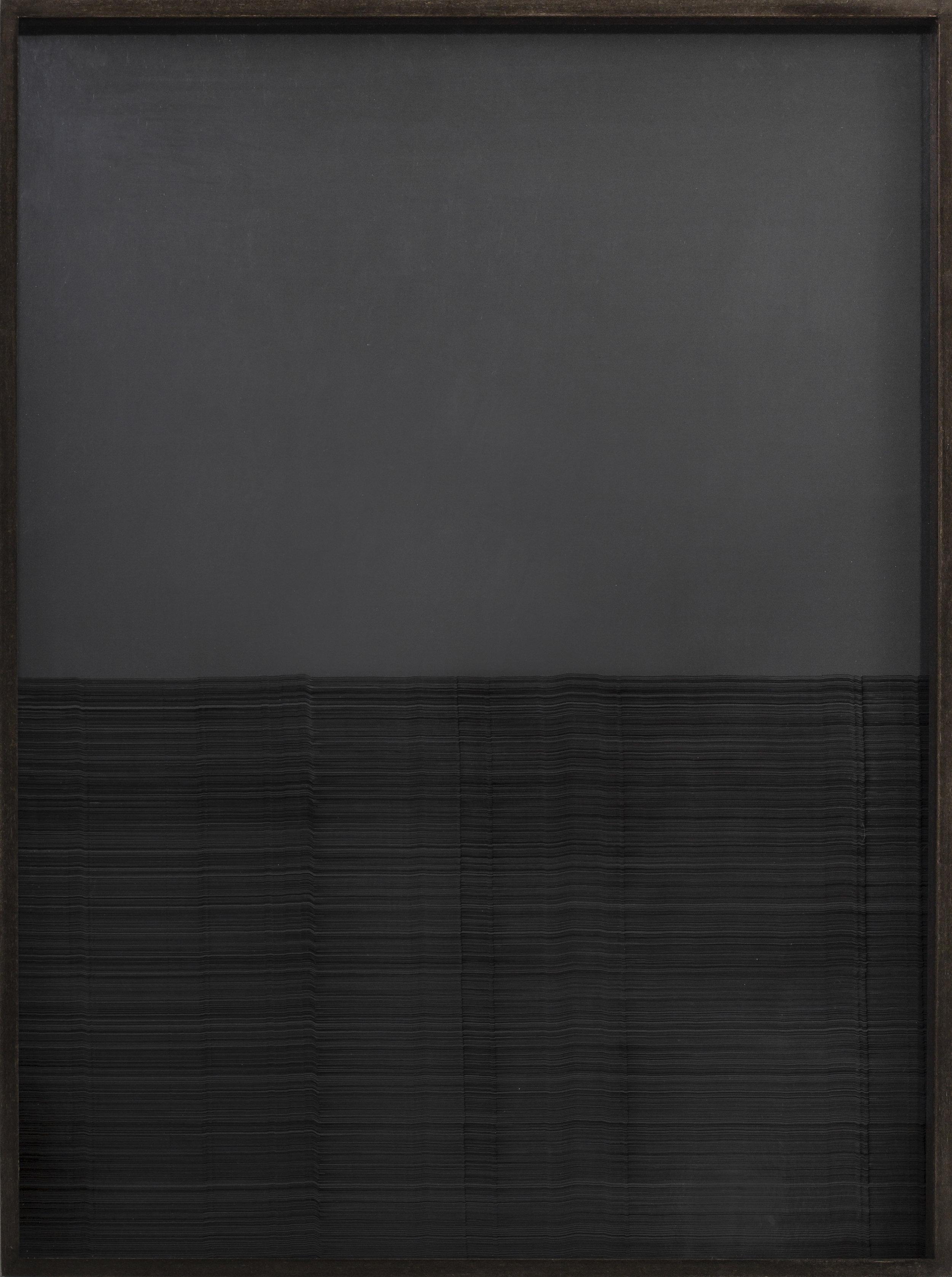Anna Vogel, Radar III, 2016, indian ink on pigment print in artist's frame, 67 x 50,5 cm