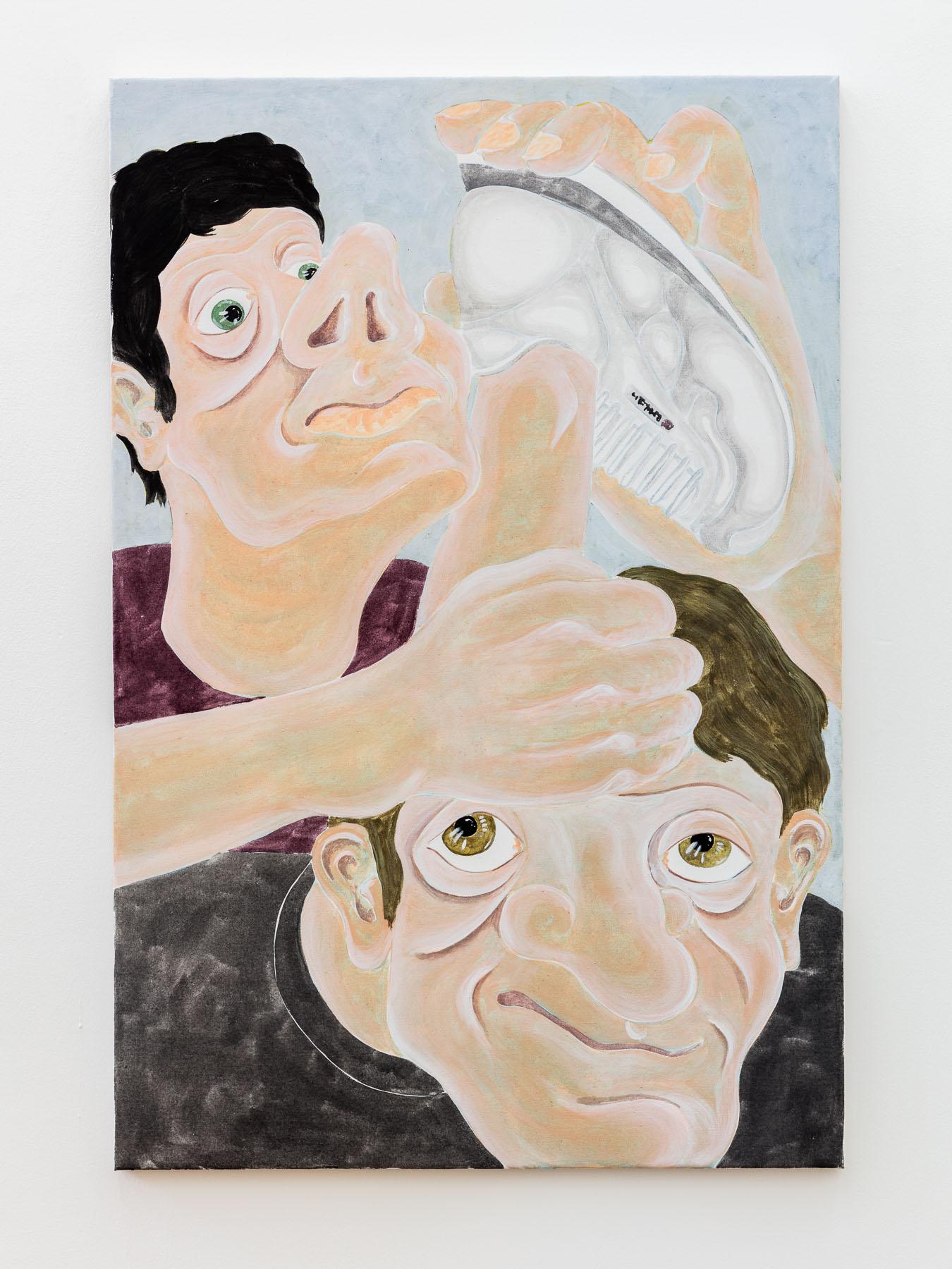 Stefan Fuchs, Mental, 2017, Acrylic and watercolor pencil on canvas, 90 x 60 cm