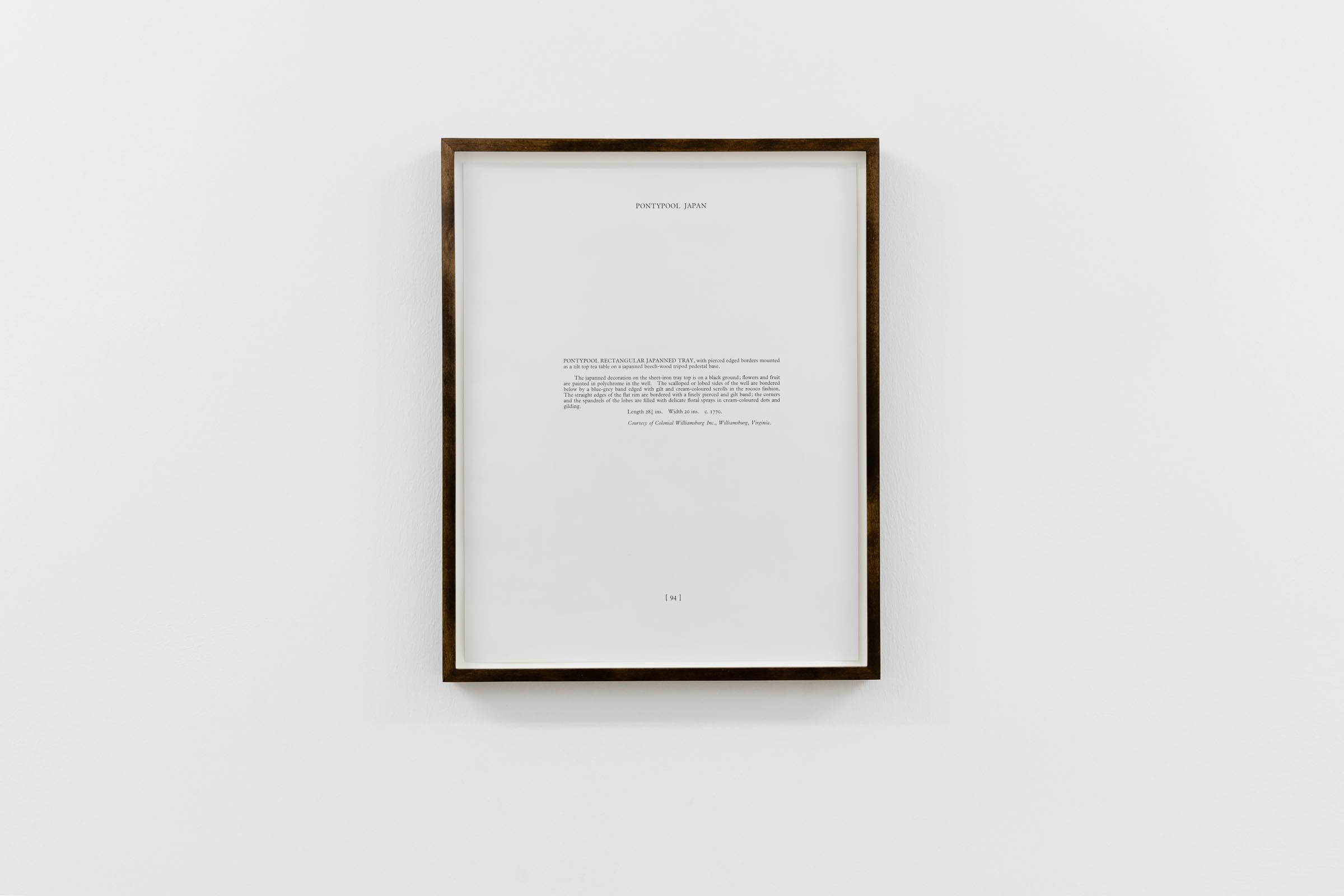 Haris Epaminonda, Unittled #15 a/y, 2017, framed found page, 33,6 x 27,2 x 2,5 cm