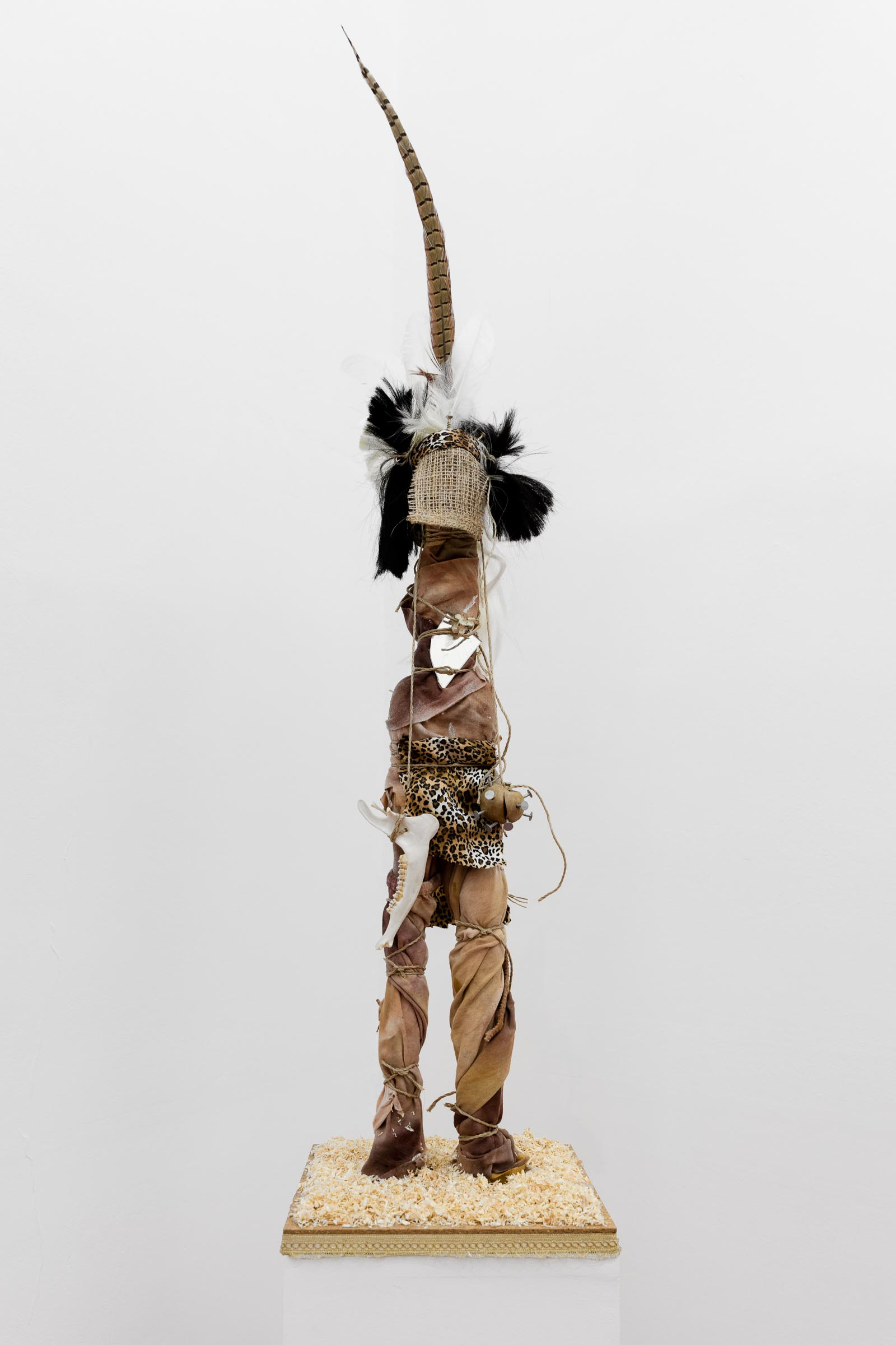 Andrew Gilbert: 'Zulu Fetish Figure', 2018, mixed media, 120 x 30 x 30 cm