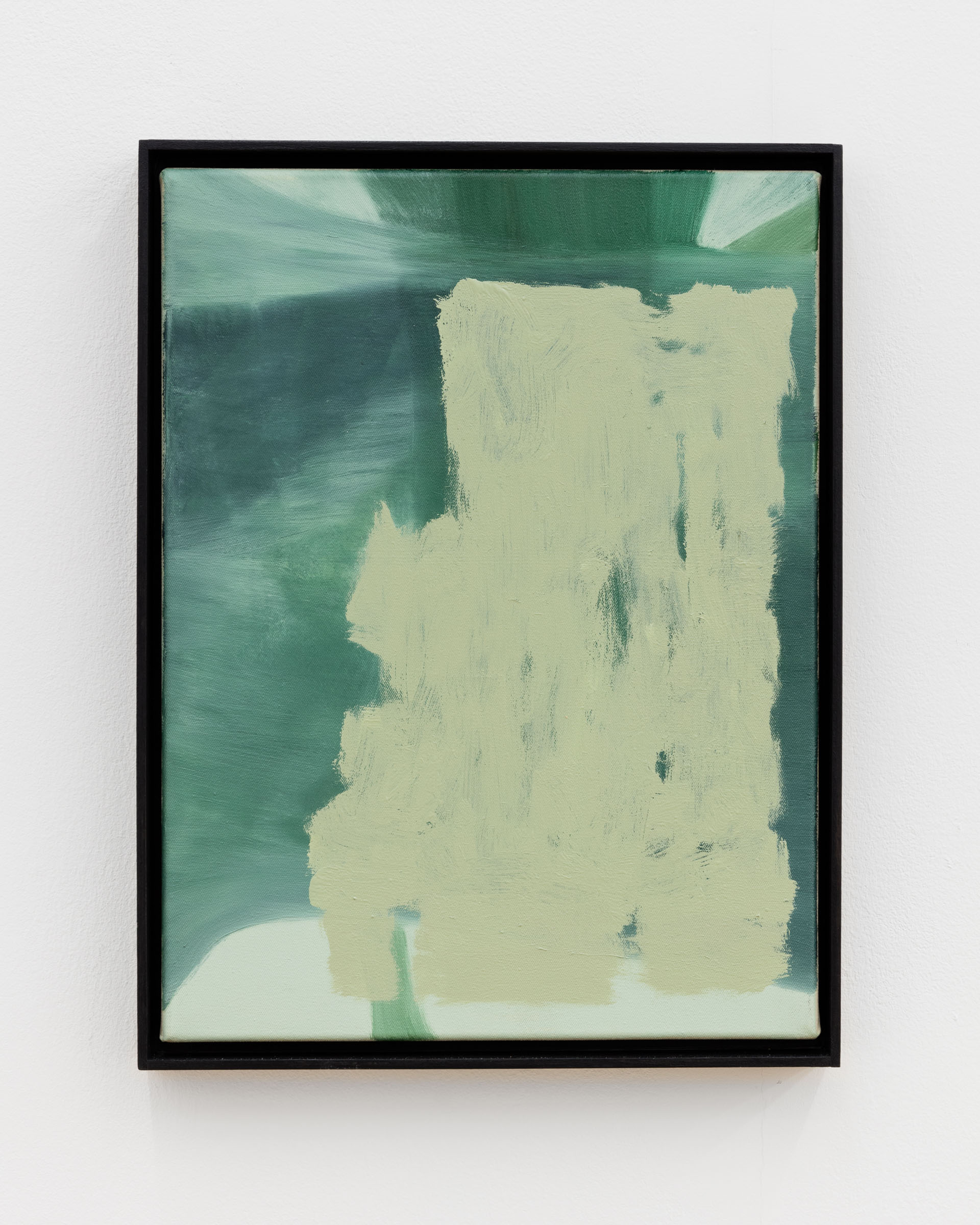 Veronika Hilger: Untitled, 2019, oil on canvas in artists frame, 40 x 30 cm