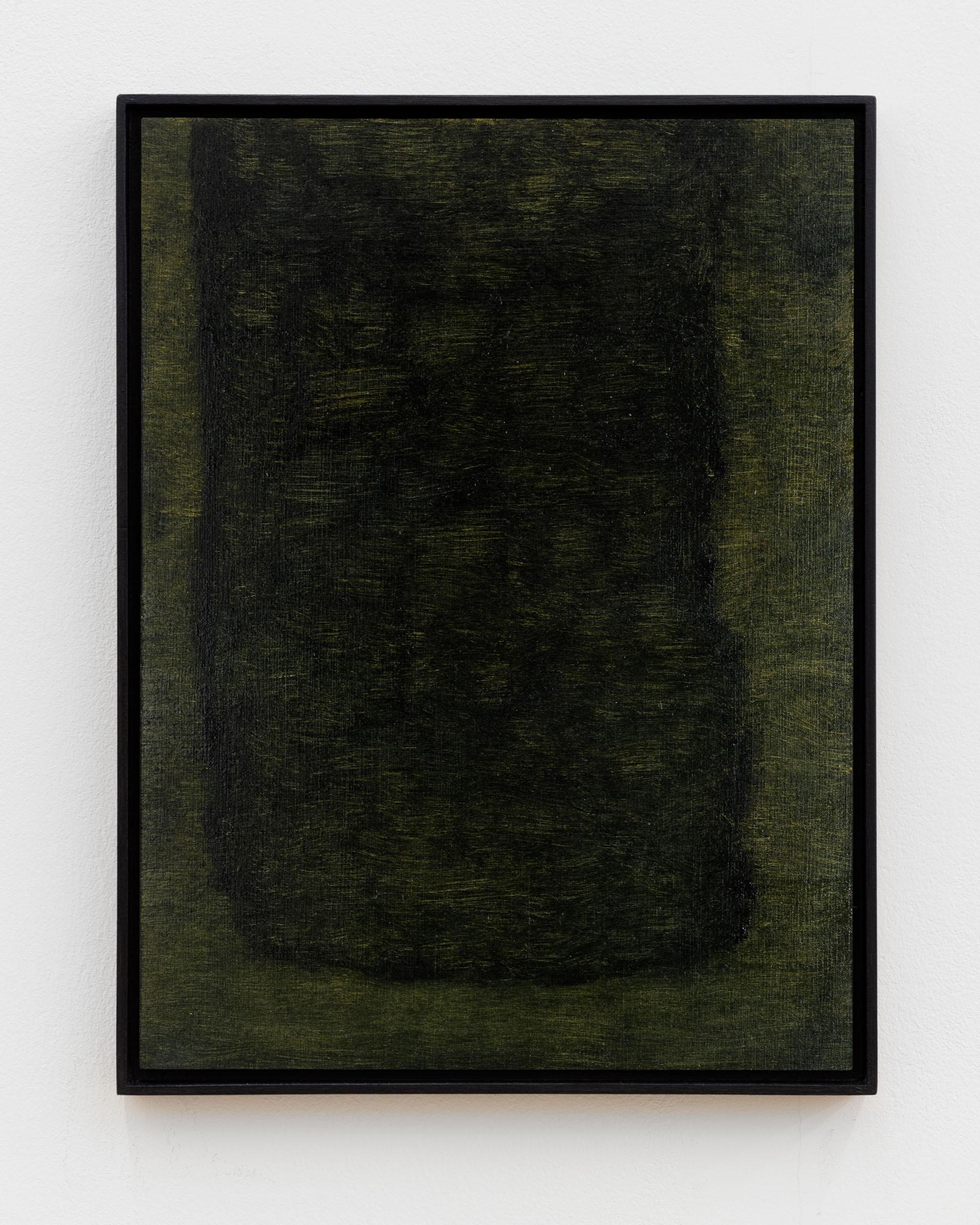 Veronika Hilger: Untitled, 2018, oil on paper on MDF in artists frame, 39,8 x 29,8 cm