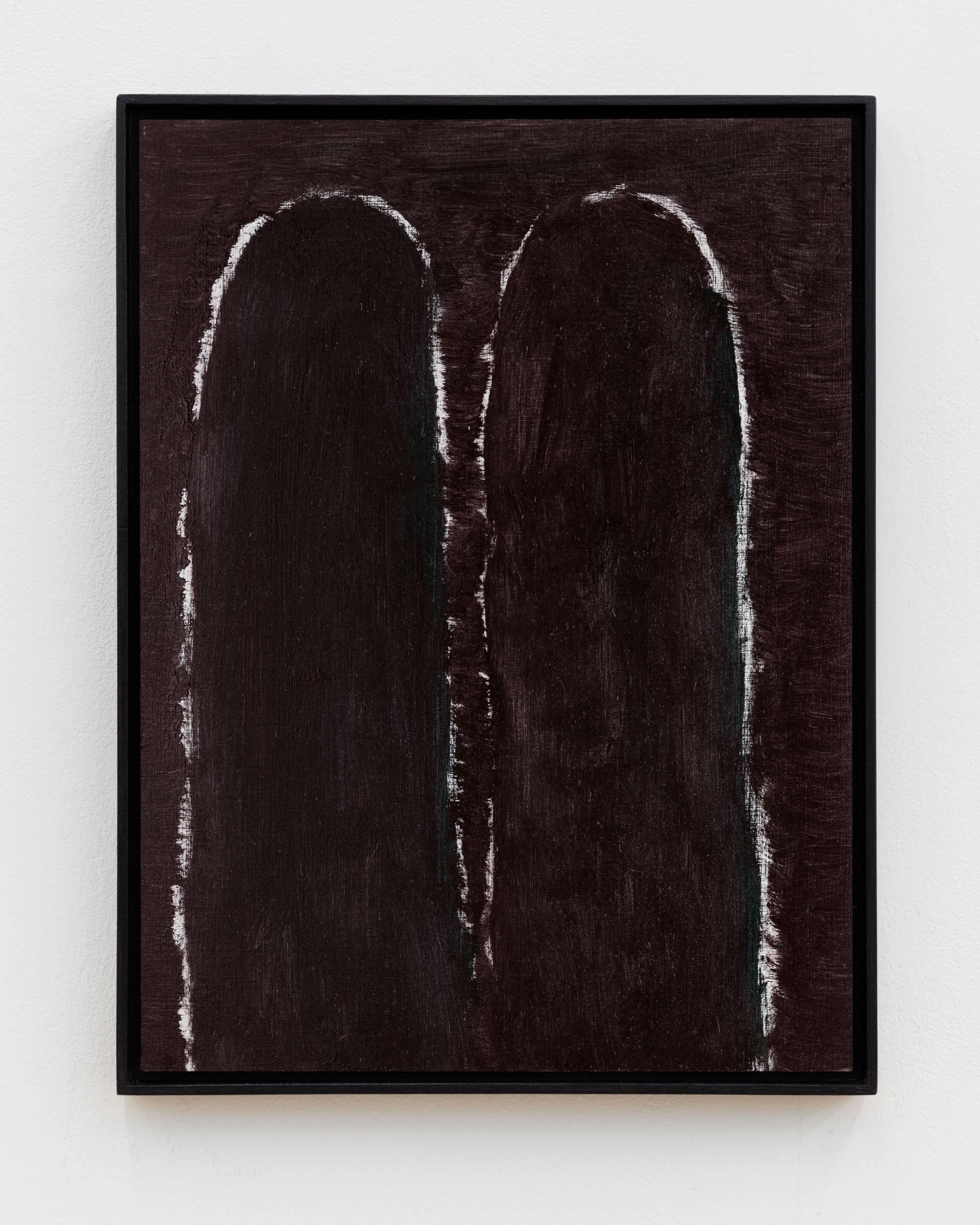 Veronika Hilger: Untitled, 2018, oil on paper on MDF in artists frame, 39,7 x 29,7 cm