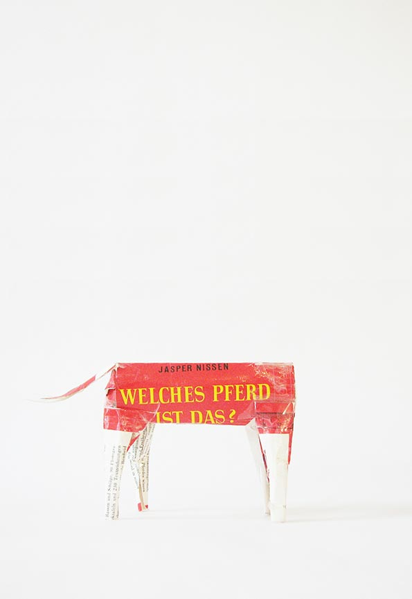 Thomas Geiger, Welches Pferd ist das? / Which horse is it?, 2011Book Cover Objects (I) Sculptures, 2009 – 2012, ca. 12 × 5 × 8 cm