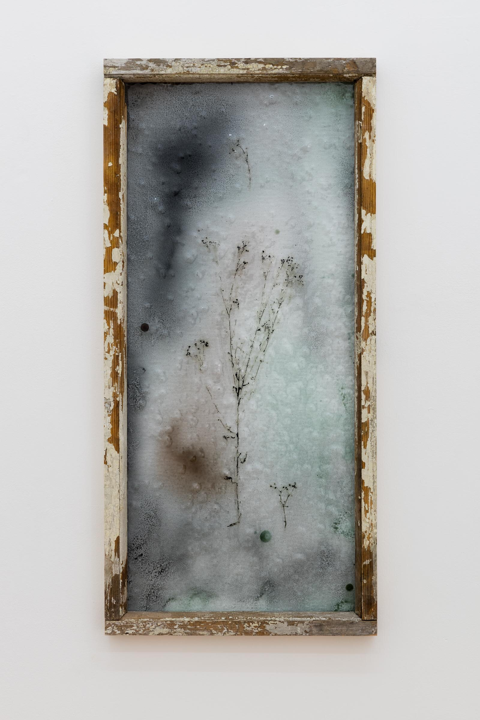 Augustas Serapinas, Notes from Užupis 2, 2019, reclaimed wood, stained glass, 98 x 46 cm