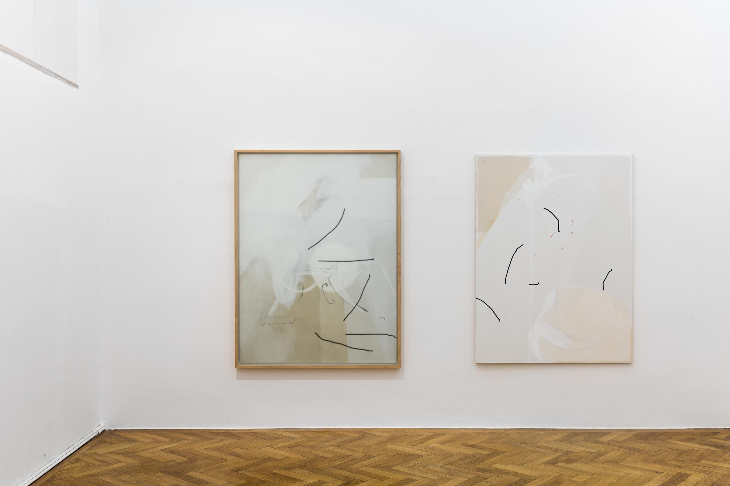 Various Others: Augustas Serapinas & Malte Zenses, installation view, 2019, SPERLING, Munich